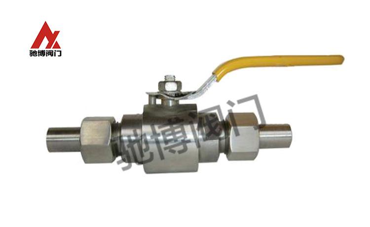 Q21SA-64P外螺纹活接焊接球阀/304对焊式气源球阀